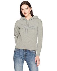 Calvin Klein - Jeans Cropped Logo Hoodie - Lyst