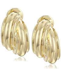 "Napier - ""simple Ears"" Gold-tone Button Clip-on Earrings - Lyst"