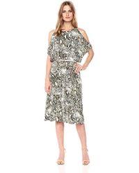 Jones New York - Slit Slv Print Wrap Skirt Fit & Flare - Lyst