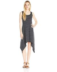 Marc New York - Stripe Sharkbite Hem Tank Dress - Lyst