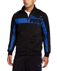 d8072913aad2 Lyst - PUMA Full-Zip Tricot Track Jacket in Red for Men