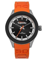 Superdry - 'scuba' Quartz Metal And Silicone Casual Watch, Color:black (model: Syg211o) - Lyst