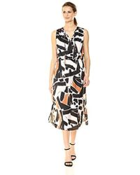 Kenneth Cole - Triple Tie Column Dress - Lyst