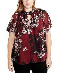03512c1983d28 Lyst - RACHEL Rachel Roy Ginger Floral Belted Top Plus Size
