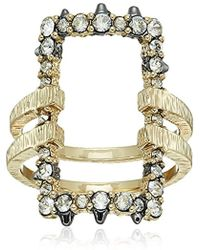 Alexis Bittar - Crystal Encrusted Oversize Link Ring - Lyst
