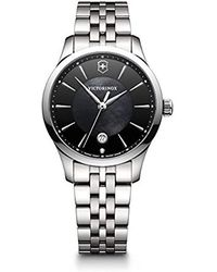Victorinox - 'alliance' Swiss Quartz Stainless Steel Casual Watch, Color:silver-toned (model: 241751) - Lyst