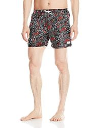 Emporio Armani - Leaf Mid Length Swim Shorts - Lyst