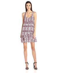 1902ece84f521 Lyst - Free People Sicily Beaded Shift Dress in White