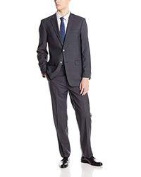 Tommy Hilfiger - Grey Shadow Stripe 2 Button Side Vent Trim Fit Suit - Lyst