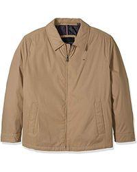92c20772 Tommy Hilfiger Big Micro Twill Laydown Collar Golf Jacket in Blue ...