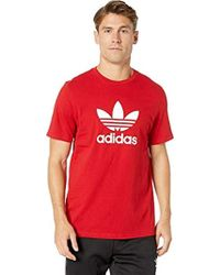 Brown Adidas In Originals Box For Lyst Zwqe75y Shirt Men Trefoil T FPF0BzY
