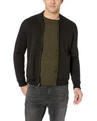 Billy Reid - Full Zip Dover Bomber Jacket With Leather Elbow Patches - Lyst