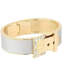 Guess - Metallic Metals Hinge Bangle Bracelet - Lyst