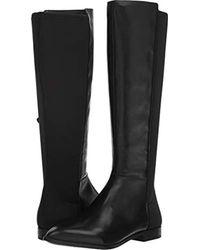 2002a023b6b9 Lyst - Nine West Owenford Wide Calf Back Boots in Black - Save 36%