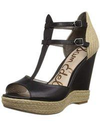 67c7225c259fa2 Lyst - Sam Edelman Womens Cairo Black Ankle Strap Heels in Black