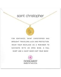 60702639bb4 ALEX AND ANI White Enamel Saint Christopher Necklace Charm in Metallic -  Save 24% - Lyst
