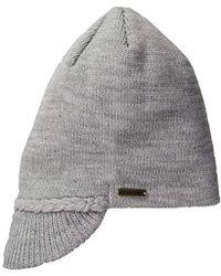 U.S. POLO ASSN. - Flat Beanie With Knitted Visor - Lyst