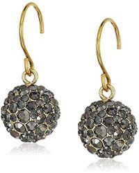 "Vera Bradley - ""radiant Fireball"" Radiant Fireball Gold Tone Drop Earrings - Lyst"