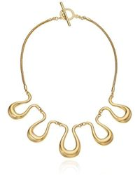 "Trina Turk - ""gold Rush Wavy Frontal Necklace, 17.5"" - Lyst"