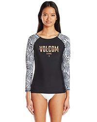 Volcom - Leaf Me Alone Long Sleeve Rashguard - Lyst