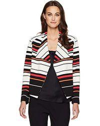 53f3fca16e Lyst - Calvin Klein Plus Size Open-front Textured-knit Flyaway ...