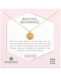 Dogeared - S Gold Beautiful Beginnings Chain Necklace, 16 - Lyst