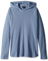 Velvet By Graham & Spencer - Velvet Cotton Pullover With Stitched-in Hoodie - Lyst