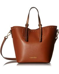 Calvin Klein - Jill Double Face Nappa Novelty East/west Tote - Lyst