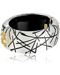 Alexis Bittar - Studded Hinge Rutilated Bangle Bracelet - Lyst