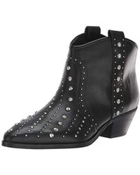 d376c1669 Lyst - Sam Edelman Lucille Studded Leather Boots in Black