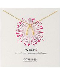 Dogeared - 'wish' Large Wishbone Charm Chain Necklace - Lyst
