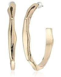 Steve Madden - Contoured Open Back Hoop Earrings - Lyst