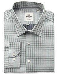 Ben Sherman - Slim Fit Twill Check Spread Collar Dress Shirt - Lyst