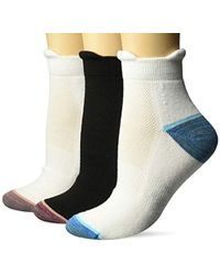 Dr. Scholls - Walking Fitness Double Tab Ankle Socks 3 Pair - Lyst