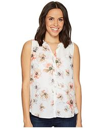 e81bf8cc71912 Lyst - Old Navy Maternity Ruffle-trim Linen-blend Popover Top in Blue