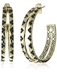 House of Harlow 1960 - Outland Split Hoop Earrings - Lyst