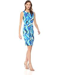 Calvin Klein - Flocked Fabric Sheath Dress - Lyst