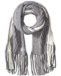 Calvin Klein - Colorblock Cable Scarf - Lyst