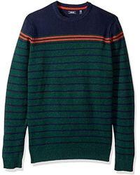 Izod - Big And Tall Newport Fine 7 Gauge Stripe Crew Sweater - Lyst