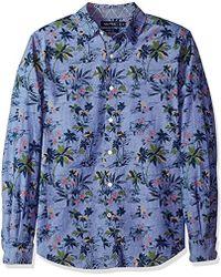 Nautica - Classic Fit Long Sleeve Print Pattern Button Down Shirt - Lyst