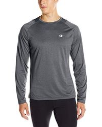 038f9895a Lyst - Champion Double Dry Run Long-sleeve T-shirt in Green for Men
