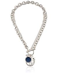 Guess - S Toggle Front Chain Necklace With Charms - Lyst