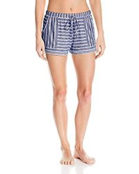Kensie - Sweater Striped Boxer Pajama Short - Lyst
