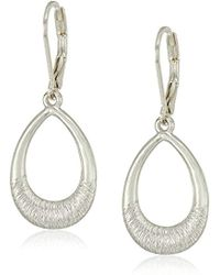 Nine West - S Silver-tone Open Drop Earrings - Lyst