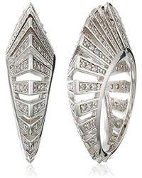 Noir Jewelry - Modernist Earrings - Lyst