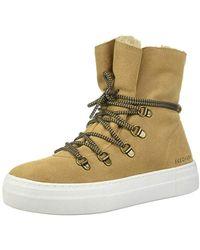 eb91d07b1ffd Skechers - Alba-high Hugs. Tall Suede Lace Up Sneakerboot. Sneaker - Lyst