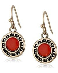 The Sak - Stone Metal Carnelian Drop Earrings - Lyst