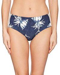 Roxy - Hippy Hour Mid Waist Swimsuit Bikini Bottom - Lyst