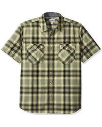 28428db245f Carhartt - Tall Big   Tall Rugged Flex Bozeman Short Sleeve Shirt - Lyst