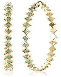 Noir Jewelry - Nero Hoop Earrings - Lyst